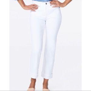NEW NYDJ Marilyn Straight Optic White Size 12,10